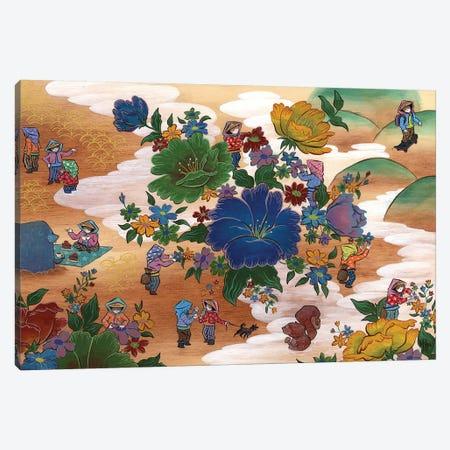 Peony - Coffee Canvas Print #MHS31} by Martin Hsu Canvas Print