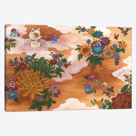 Peony - Cat Canvas Print #MHS32} by Martin Hsu Art Print
