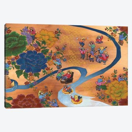 Peony - Koi Canvas Print #MHS33} by Martin Hsu Art Print