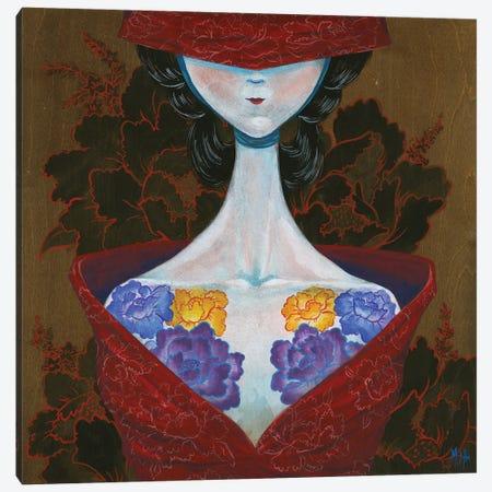 Peony Lady - Thinker Canvas Print #MHS34} by Martin Hsu Canvas Wall Art