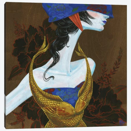 Peony Lady - Fighter 3-Piece Canvas #MHS35} by Martin Hsu Canvas Art
