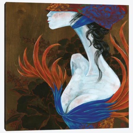 Peony Lady - Lover Canvas Print #MHS36} by Martin Hsu Canvas Artwork