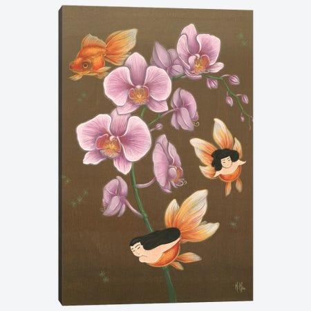 Goldfish Mermaids - Spring Orchids Canvas Print #MHS3} by Martin Hsu Canvas Wall Art