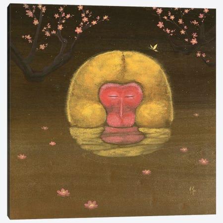 Monkey and Plum Blossoms Canvas Print #MHS44} by Martin Hsu Canvas Print