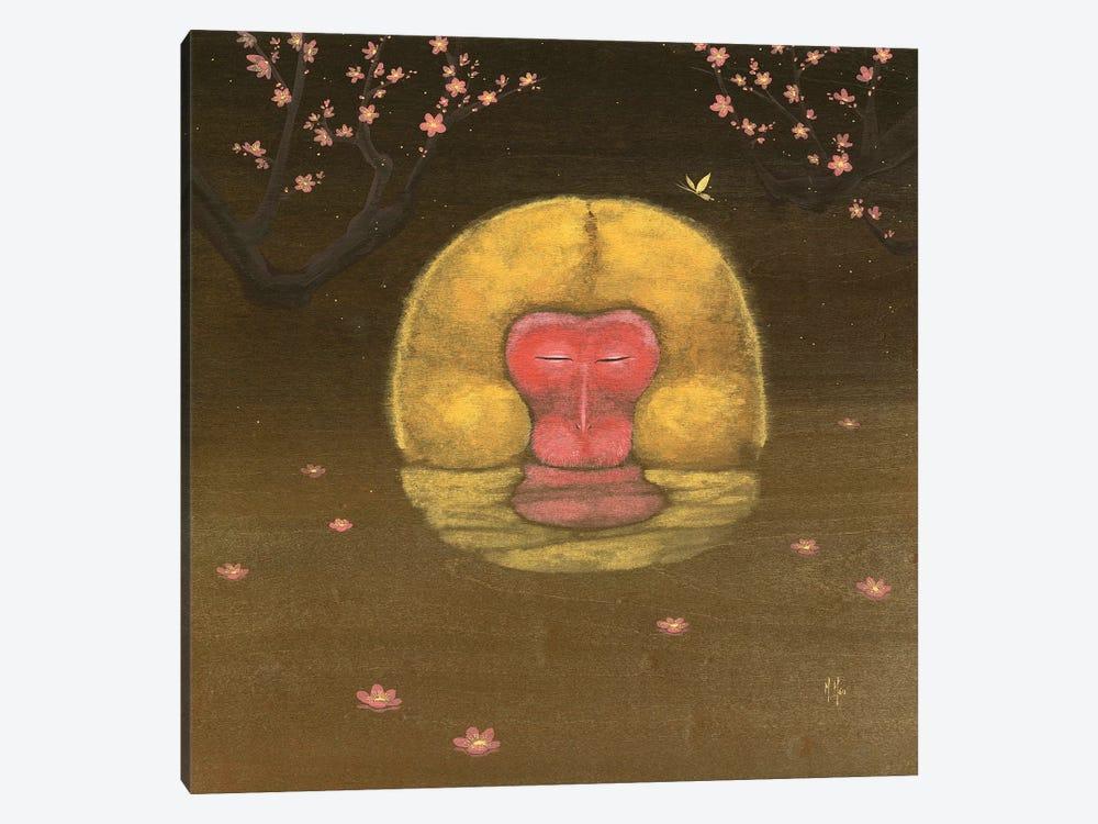 Monkey and Plum Blossoms by Martin Hsu 1-piece Art Print
