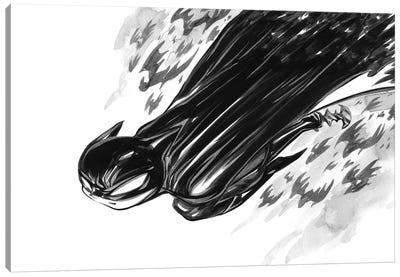 Bat Boy Flight Canvas Art Print