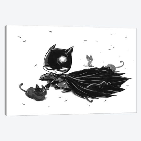 Bat Boy Cats Canvas Print #MHS47} by Martin Hsu Art Print