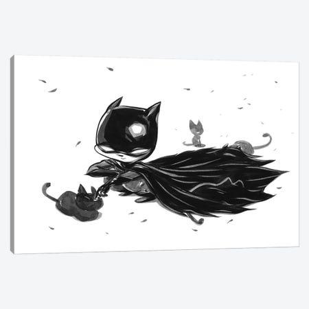 Bat Boy Cats Canvas Print #MHS47} by Martin Hsu Art Print