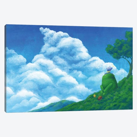 Robot Cloud Canvas Print #MHS51} by Martin Hsu Canvas Print