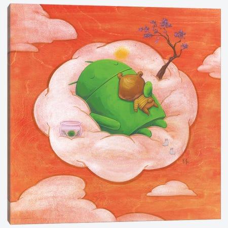 Robot Bear Canvas Print #MHS52} by Martin Hsu Canvas Art Print