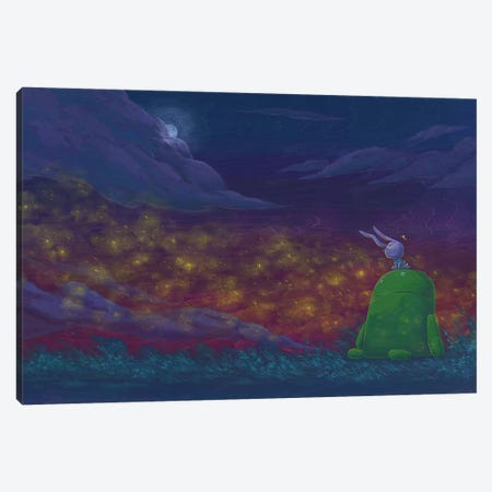 Robot Bunny Canvas Print #MHS55} by Martin Hsu Canvas Wall Art