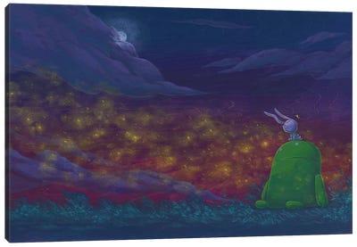 Robot Bunny Canvas Art Print