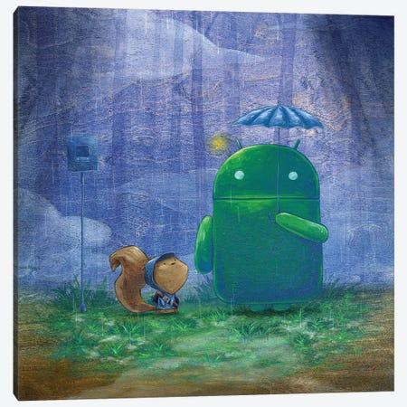 Robot Rain  Canvas Print #MHS57} by Martin Hsu Canvas Art