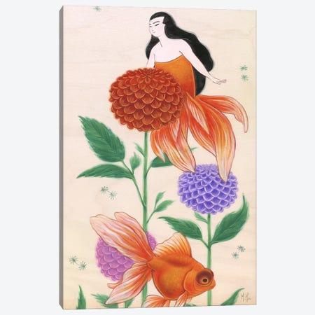 Goldfish Mermaids - Dahlias Canvas Print #MHS5} by Martin Hsu Canvas Art Print