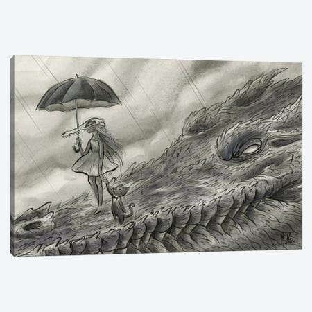 Spirit Animals - Croc Canvas Print #MHS63} by Martin Hsu Canvas Art