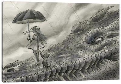 Spirit Animals - Croc Canvas Art Print