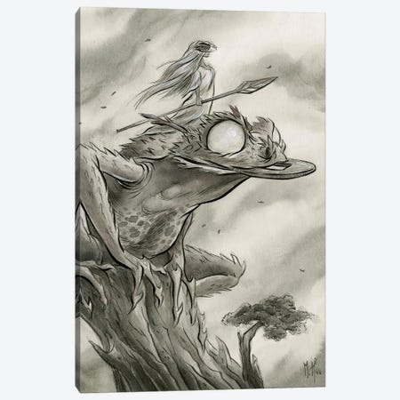 Spirit Animals - Toad Canvas Print #MHS64} by Martin Hsu Canvas Art Print