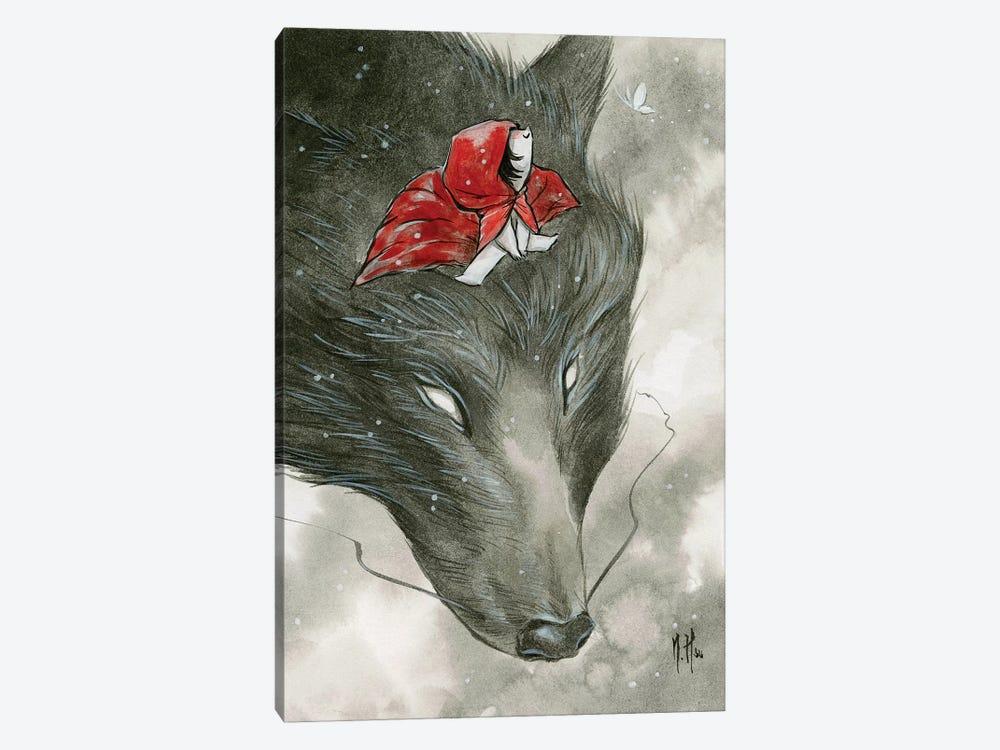 Spirit Animals - Grey Wolf by Martin Hsu 1-piece Canvas Print