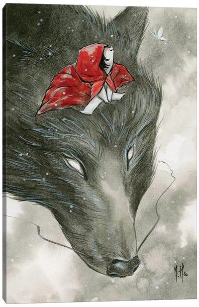 Spirit Animals - Grey Wolf Canvas Art Print