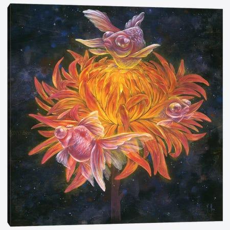Goldfish Sun Canvas Print #MHS76} by Martin Hsu Canvas Wall Art