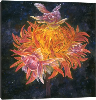 Goldfish Sun Canvas Art Print