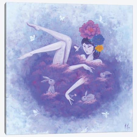 Flower Bath - Flutter Canvas Print #MHS79} by Martin Hsu Canvas Print