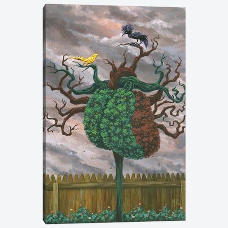 Song Bird and Crow Canvas Print #MHS85} by Martin Hsu Canvas Print