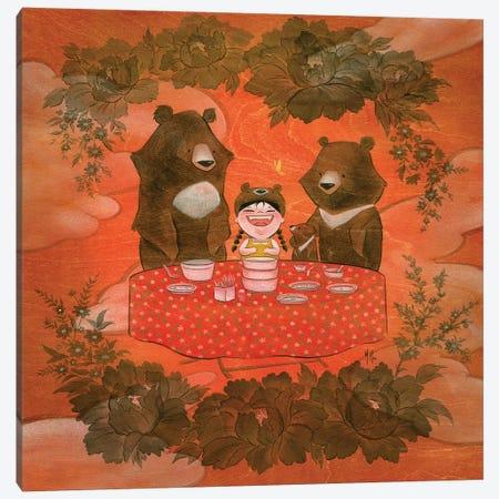 Three Bears Canvas Print #MHS86} by Martin Hsu Canvas Art Print