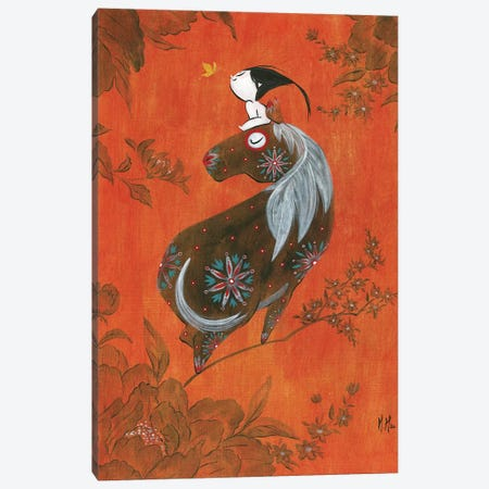 Girl and Horse Canvas Print #MHS89} by Martin Hsu Canvas Art