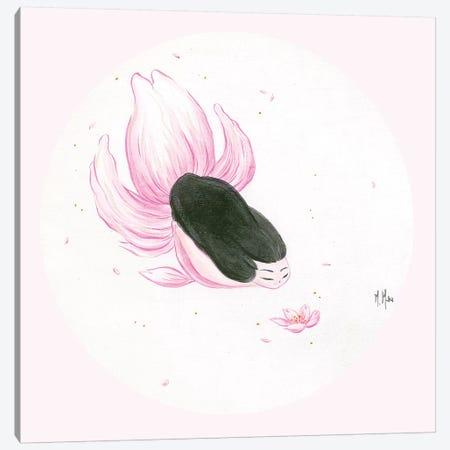 Goldfish Mermaid - Sakura Kiss Canvas Print #MHS8} by Martin Hsu Canvas Artwork
