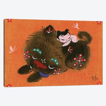 Puppy Love Canvas Print #MHS91} by Martin Hsu Canvas Print