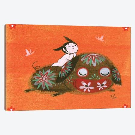 Piggy Smile Canvas Print #MHS93} by Martin Hsu Canvas Art Print