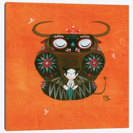 Minotaur Canvas Print #MHS97} by Martin Hsu Canvas Wall Art