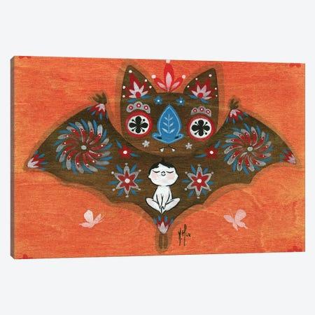 Folk Blessings - Bat Canvas Print #MHS99} by Martin Hsu Canvas Print