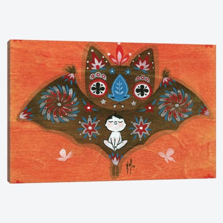 Folk Blessings - Bat Canvas Print #MHS99} by Martin Hsu Canvas Print
