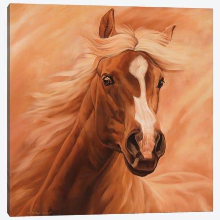 Peach Canvas Print #MHT16} by Michelle Grant Canvas Print