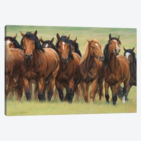 Pecking Order Canvas Print #MHT17} by Michelle Grant Canvas Art Print