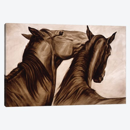 Can You Keep A Secret Canvas Print #MHT6} by Michelle Grant Canvas Wall Art