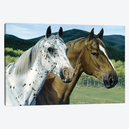 Cody & Dar II Canvas Print #MHT7} by Michelle Grant Canvas Artwork