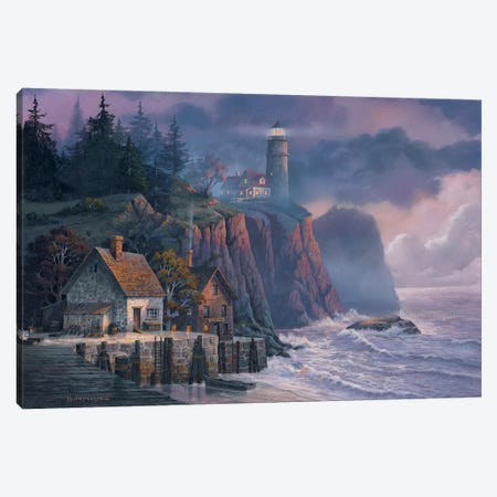 Harbor Light Hideaway Canvas Print #MHU18} by Michael Humphries Canvas Print