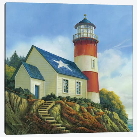 Liberty's Light Canvas Print #MHU19} by Michael Humphries Canvas Art Print