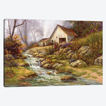 Mornin' Stroll Canvas Print #MHU24} by Michael Humphries Canvas Print