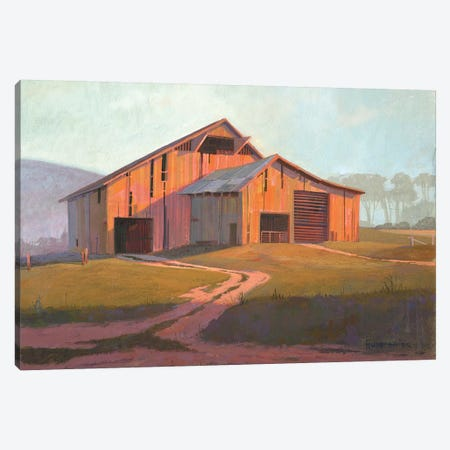 Sunset Barn Canvas Print #MHU33} by Michael Humphries Canvas Print