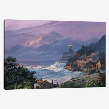 Sunset Fog Canvas Print #MHU34} by Michael Humphries Canvas Wall Art