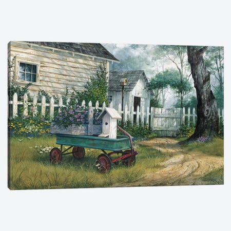 Antique Wagon Canvas Print #MHU3} by Michael Humphries Canvas Wall Art