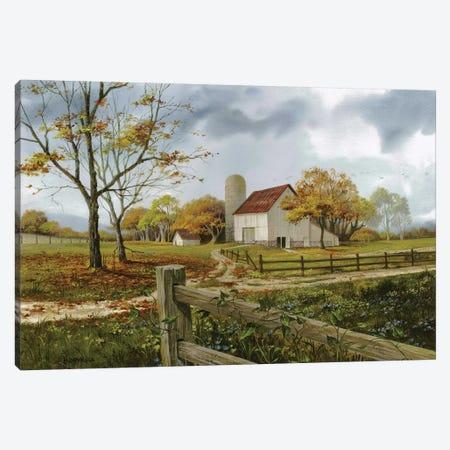Autumn Barn Canvas Print #MHU4} by Michael Humphries Canvas Art Print