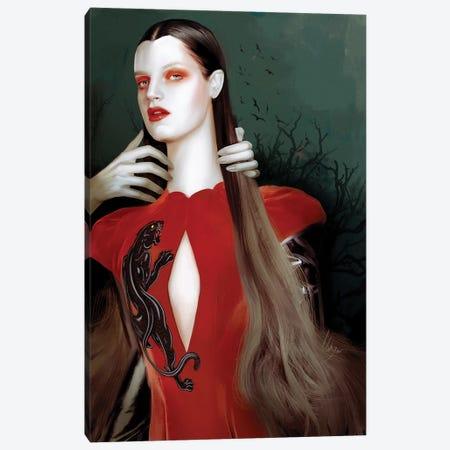 Red Canvas Print #MHY24} by Mahyar Kalantari Art Print