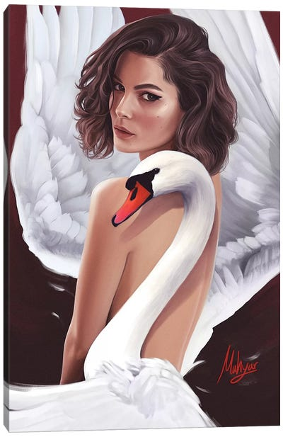 Swan Canvas Art Print
