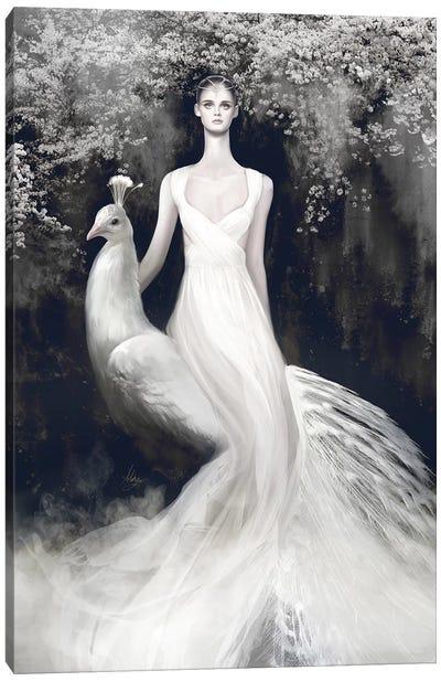 Valentino White Canvas Art Print