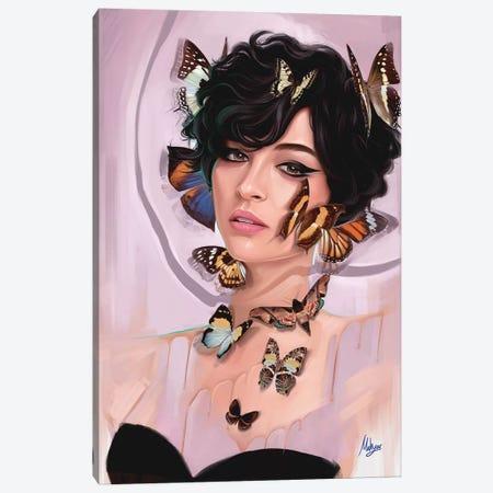 Butterfly Cream Canvas Print #MHY8} by Mahyar Kalantari Canvas Art